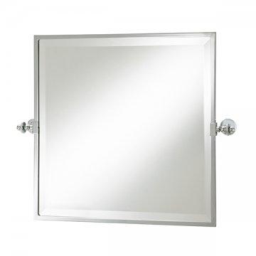 Hawthorn Hill Square Tilting Bathroom Mirror With Metal Frame 508h X 508w  618w Incl Brackets.