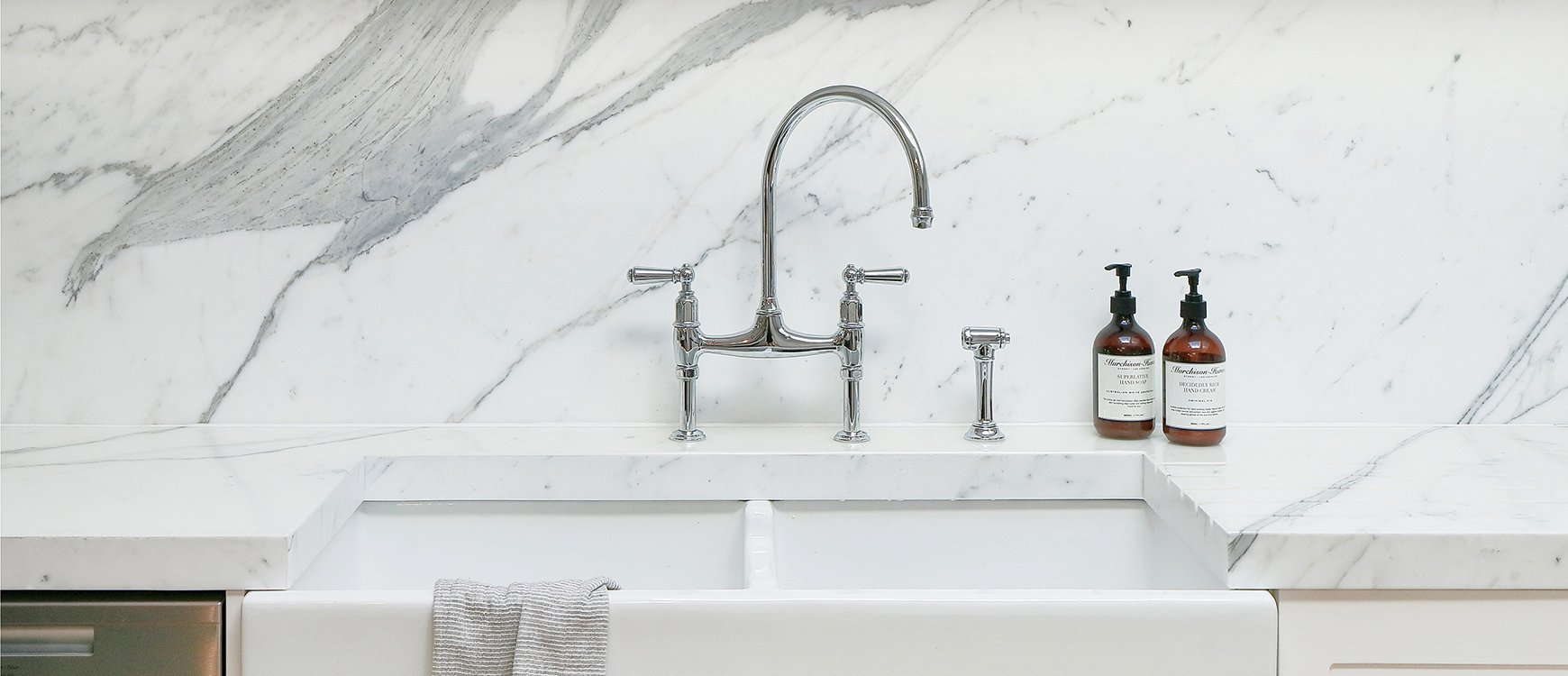 Perrin & Rowe Ionian Bridge Style Mixer Tap - A Design