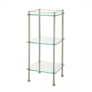 Hawthorn Hill   Bathroom Stand With Three Glass Shelves. 350w X 350d X 830h