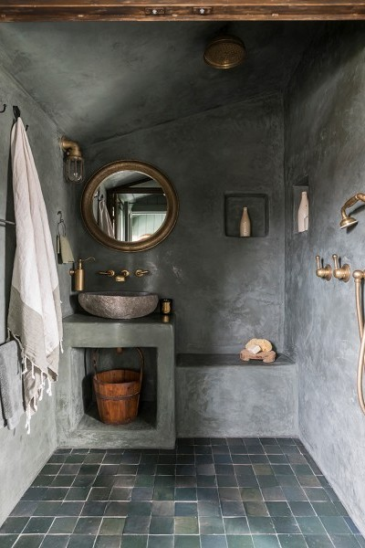 Perrin Amp Rowe Featured In This Rustic Urban Bathroom