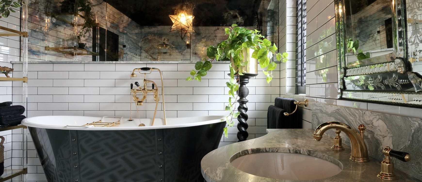 Hollywood Regency Inspired Bathroom Design At Its Best In