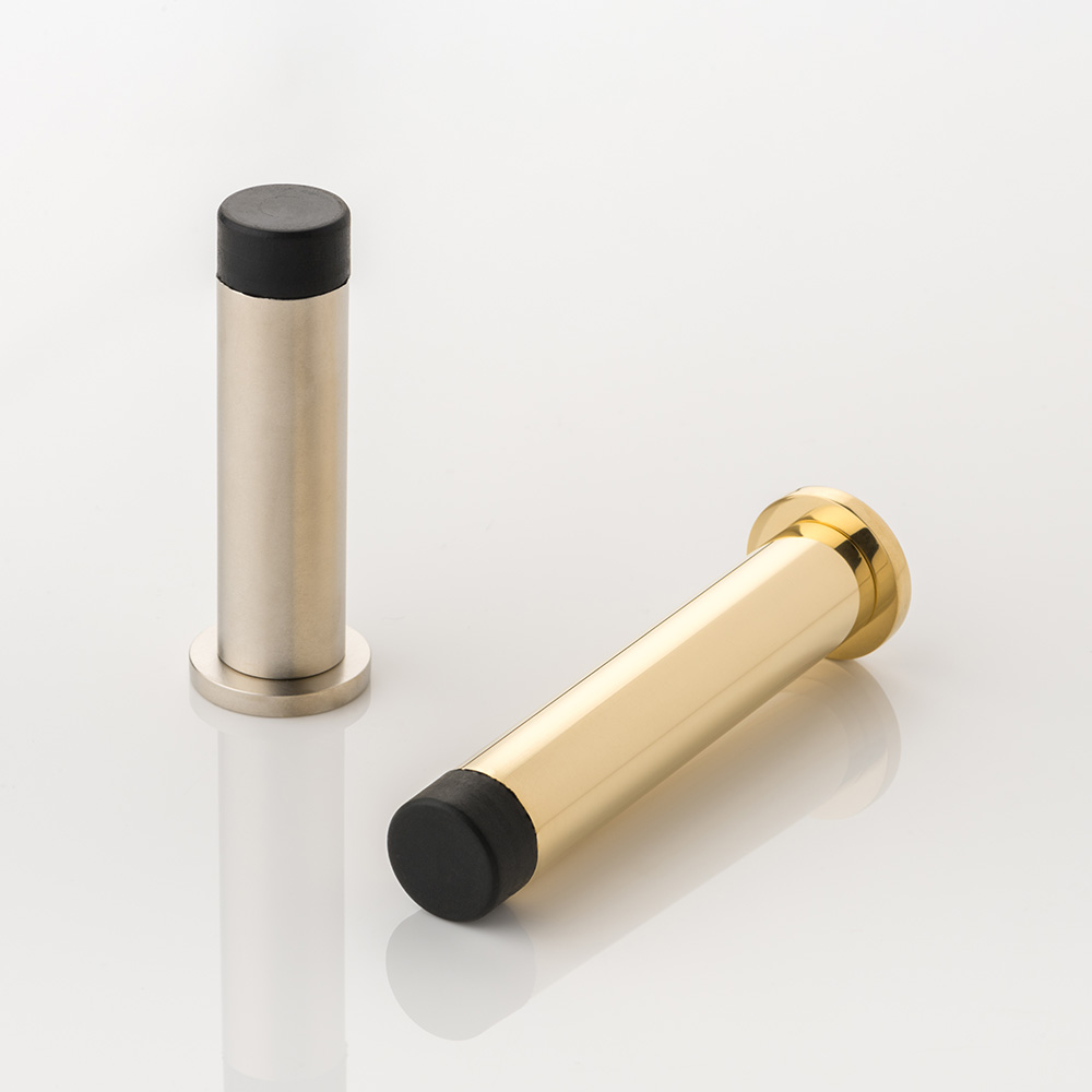 Joseph Giles Round Solid Brass Wall, Round Door Stopper For Wall